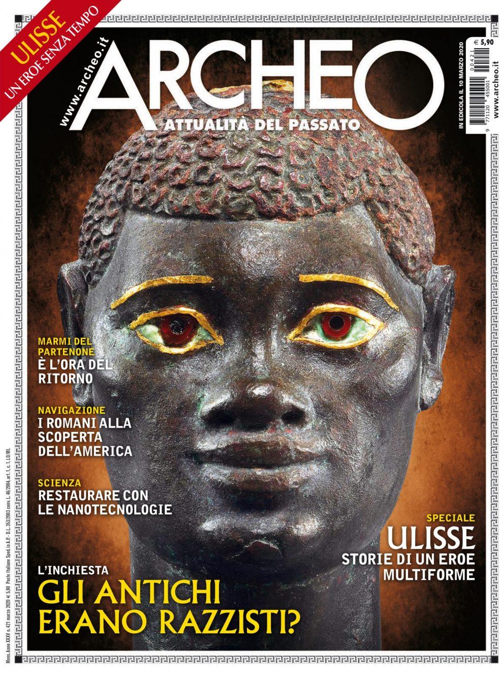 Copertina di Archeo n. 421, Marzo 2020