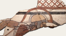 Frammento di lastra dipinta con raffigurazione di uomo armato