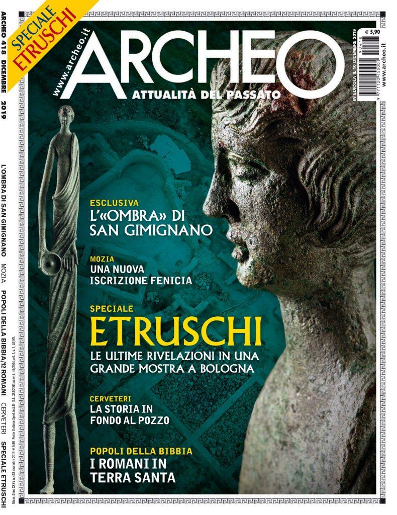 Copertina di Archeo n. 418, Dicembre 2019