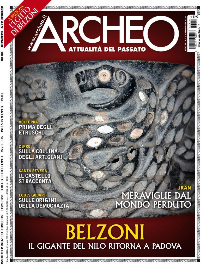 Copertina di Archeo n. 419, Gennaio 2020