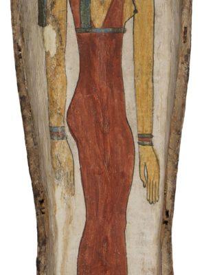 Valva superiore di sarcofago antropoide di Pa-di-Khonsu, Legato Busca, terzo periodo intermedio (X – VIII sec. A.C.). Milano, Civico Museo Archeologico