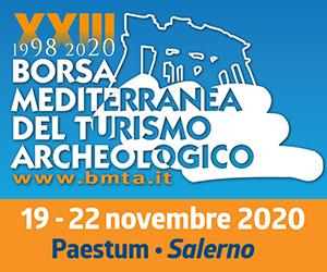 Poster della XXIII edizione della Borsa Mediterranea del Turismo Archeologico Paestum