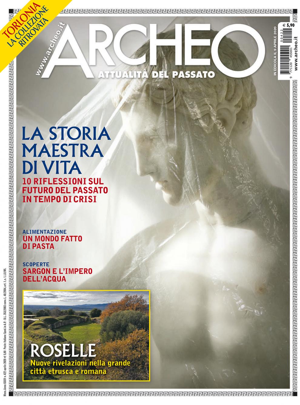 Copertina di Archeo n. 422, Aprile 2020