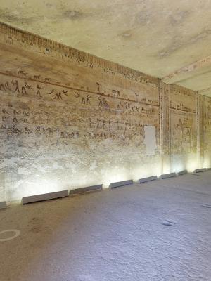 Scorcio della tomba di Kheti nella necropoli di Beni Hasan (Egitto)