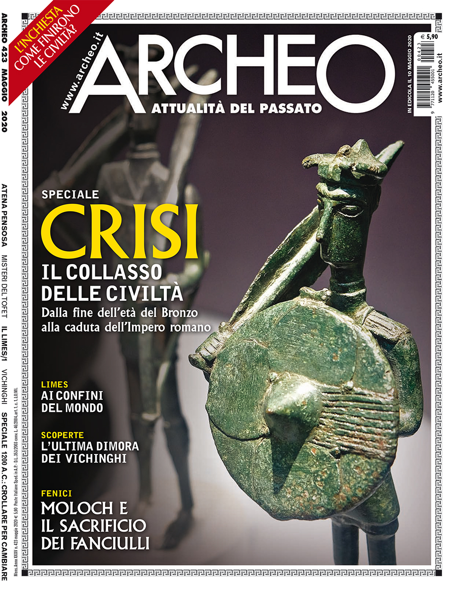 Copertina della rivista Archeo n. 423 Maggio 2020