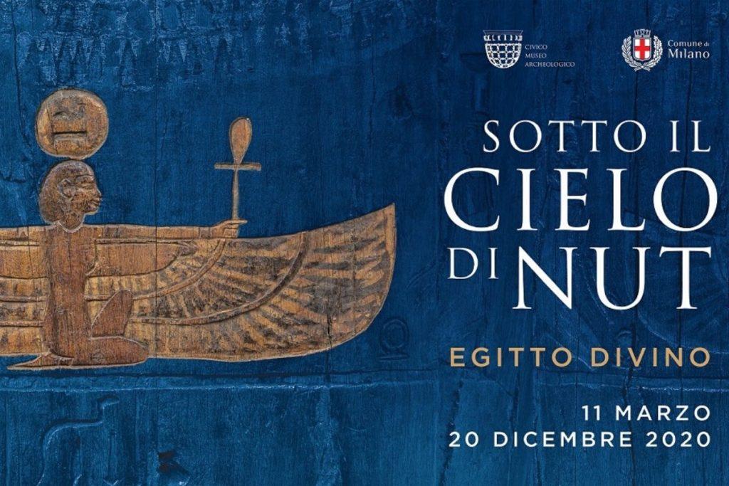Sotto il cielo di Nut. Egitto divino. Cartolina della mostra al Civico Museo Archeologico di MIlano
