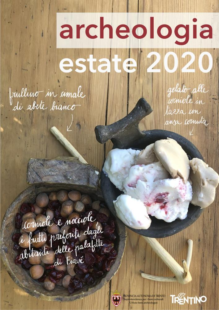 Locandina programma archeologia in Trentino Estate 2020