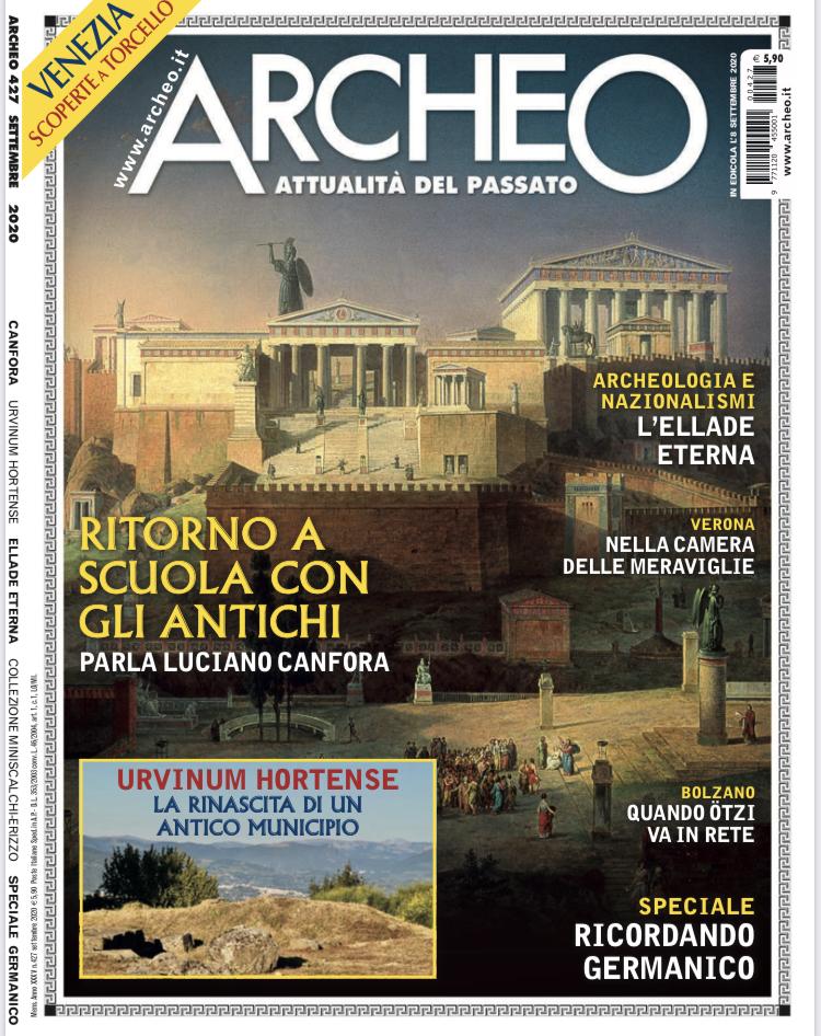 Copertina di Archeo n. 427, Settembre 2020