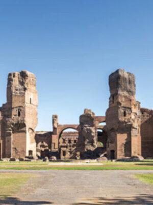 Roma. Veduta panoramica delle Terme di Caracalla