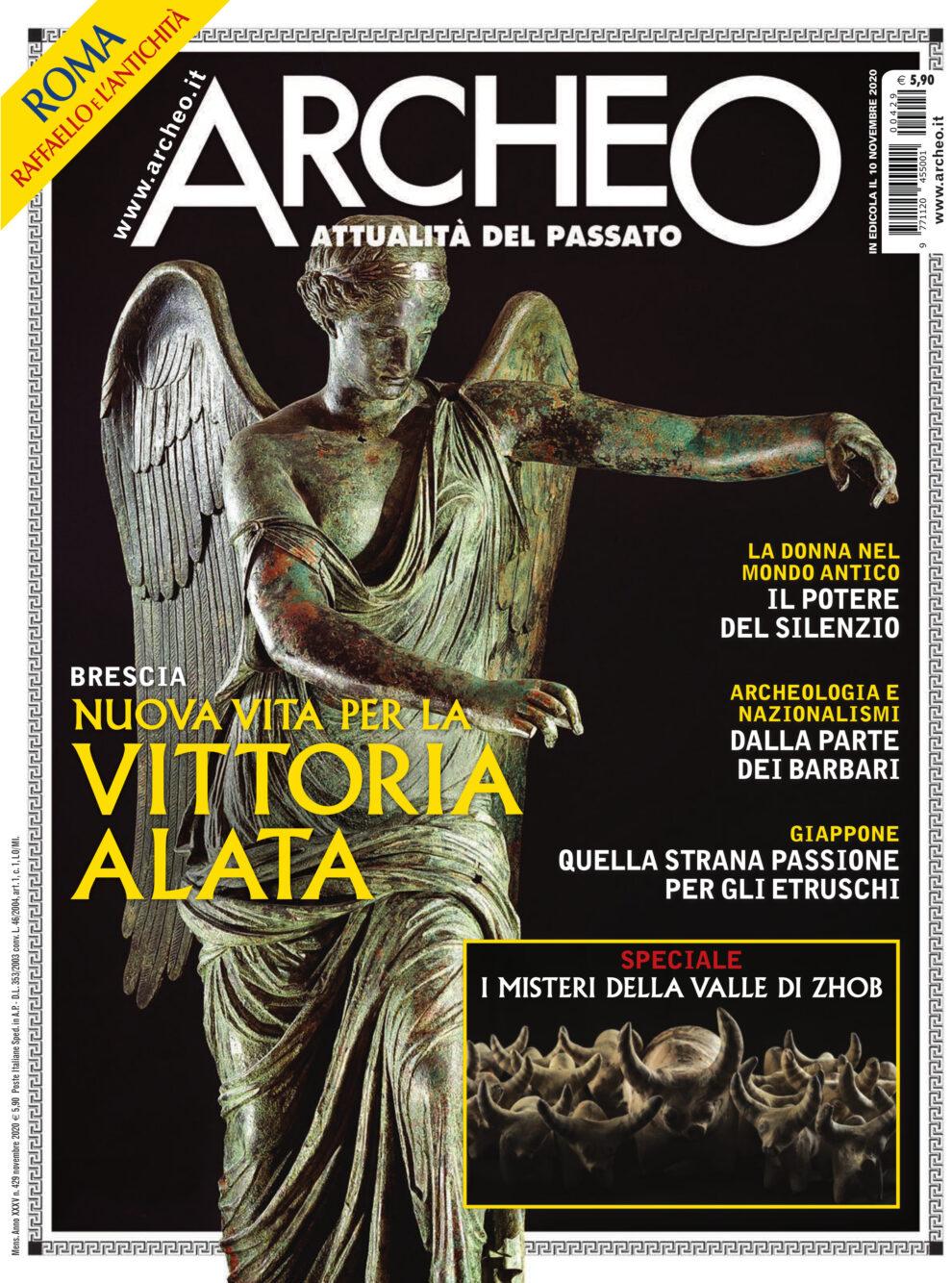 Copertina di Archeo n. 429, Novembre 2020